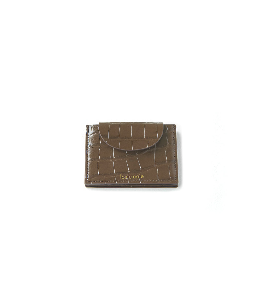 betty card wallet - brown embo